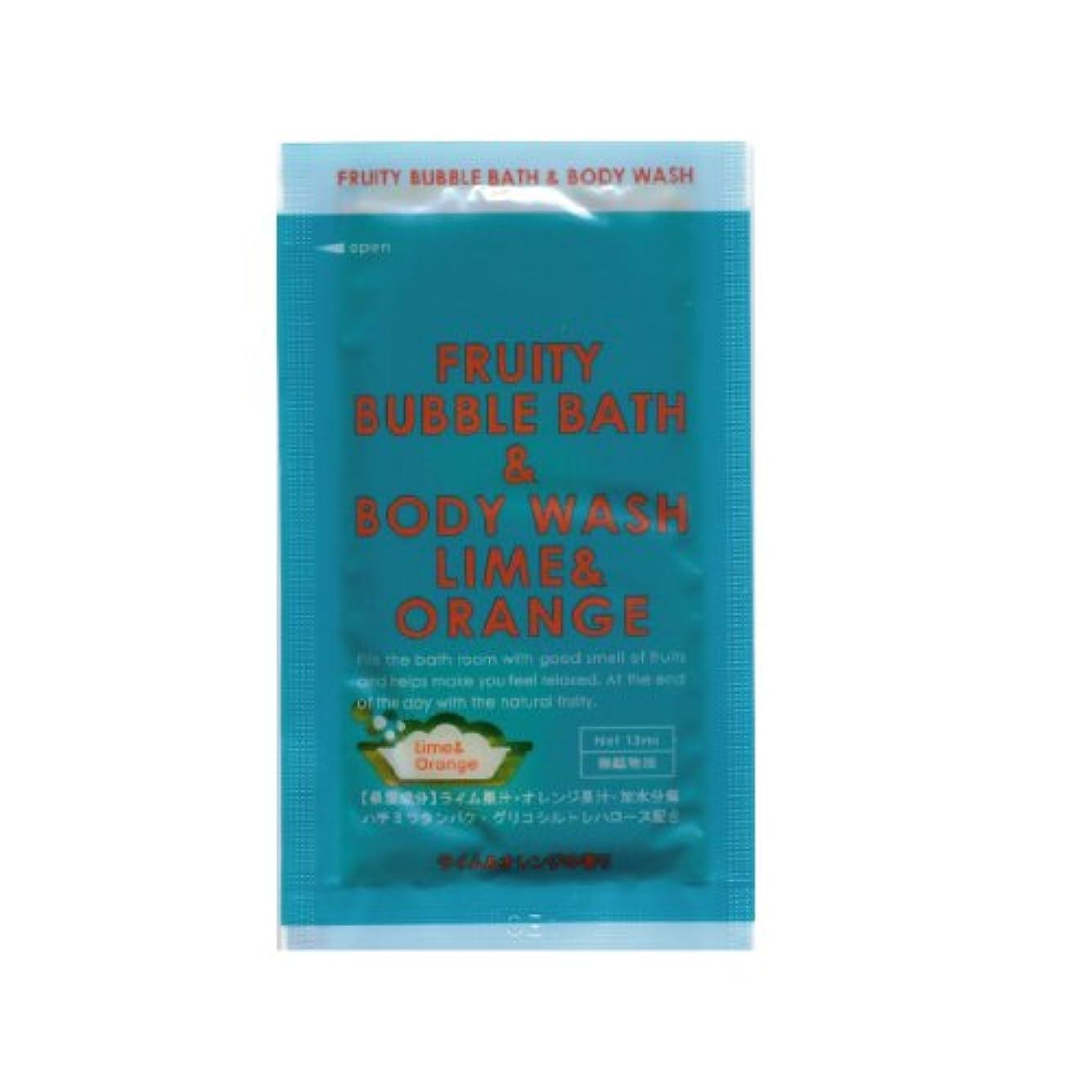 不透明なサーカスバッジフルーティーバブルバス&ボディウォッシュ ライム&オレンジ 1包