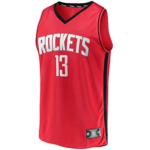 Goxegag Camiseta de baloncesto al aire libre James Houston NO.13 Rockets Harden Fast Break Player Jersey de secado rápido para hombre, edición icono, color rojo