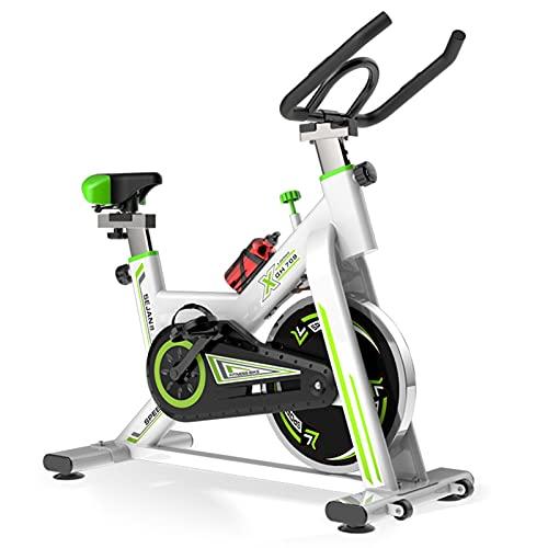Spinning Bike Bicicleta Estática para El Hogar, Bicicleta De Ciclismo Indoor Estacionaria con Resistencia Ajustable, para Fitness En Casa Y Ejercicio Aeróbico, Blanco