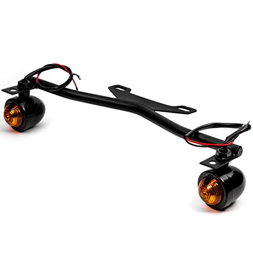 Krator Black Driving Passing Lamp Spot Light Bar Bracket with Turn Signals Motorcycle Compatible with Suzuki Boulevard C109R C50 C90