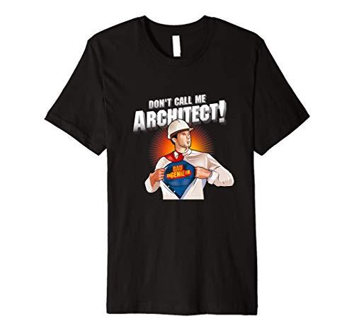 Civil Engineer Design Architect Super Hero Civil Engineer Premium T-Shirt
