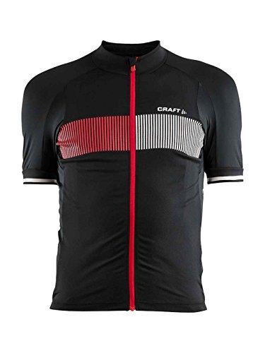 Craft cr1904995–Maillot de Ciclismo para Hombre, Hombre, Color Negro/Rojo, tamaño FR :...