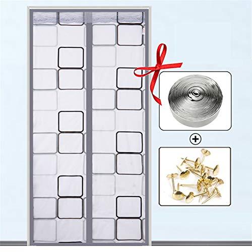 Mosquito magnetische deur, gordijn 100 x 210 cm, anti-muggen-insecten, eenvoudige installatie voor gangen, terrasdeuren 100x230cm E
