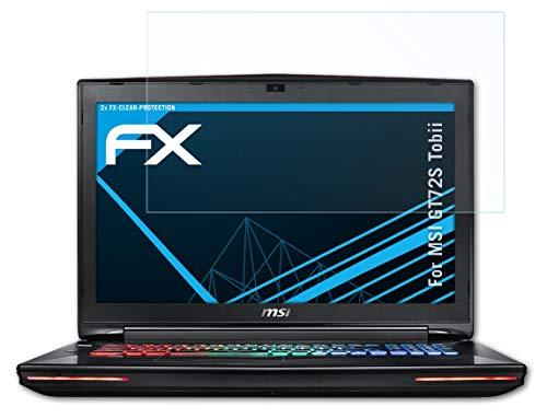 atFolix Schutzfolie kompatibel mit MSI GT72S Tobii Folie, ultraklare FX Bildschirmschutzfolie (2X)