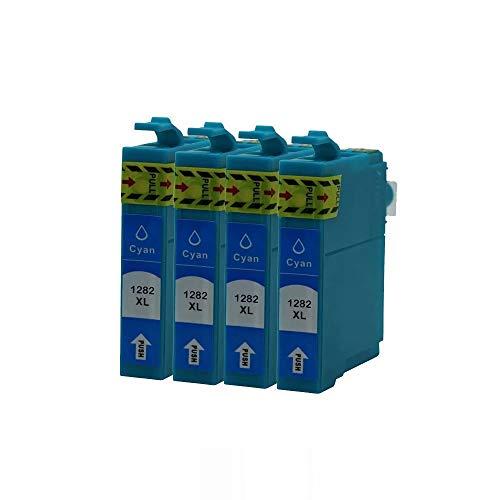 ZYL - 4 cartucce di inchiostro di ricambio compatibili per Epson T1285 T1282 Workforce WF-2010W WF-2510WF WF-2520NF WF-2530WF WF-2540WF WF-2630WF WF-2650DWF WF-2660DWF WF-2750DWF WF-2760DWF