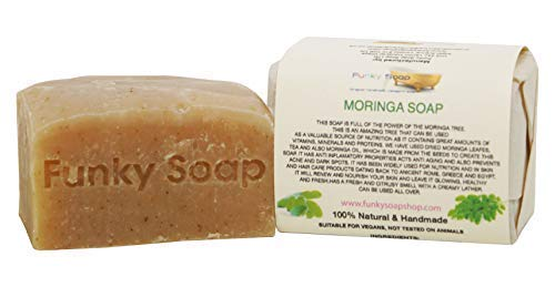 Funky Soap Afrikanische Moringa Seife 100% Natürlich Handgemacht, 1 bar Of 120g