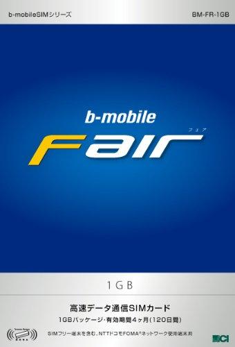 日本通信 bモバイル・フェア 1GB SIMパッケージ 120日間