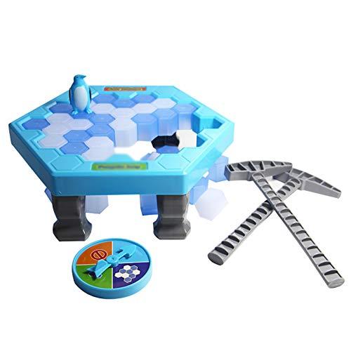 YUDIZWS Juguete del Juego de Bloques de Hielo, Juego de Hielo en Rompecabezas de Rompecabezas, Divertido Party Family Ice Romper Kids Puzzle Table, 20 * 22.5 * 7.5cm,Penguin