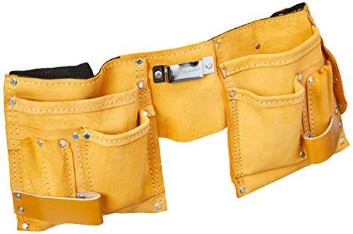 Cinto para ferramentas com 11 bolsos, Eda, 9', Preto