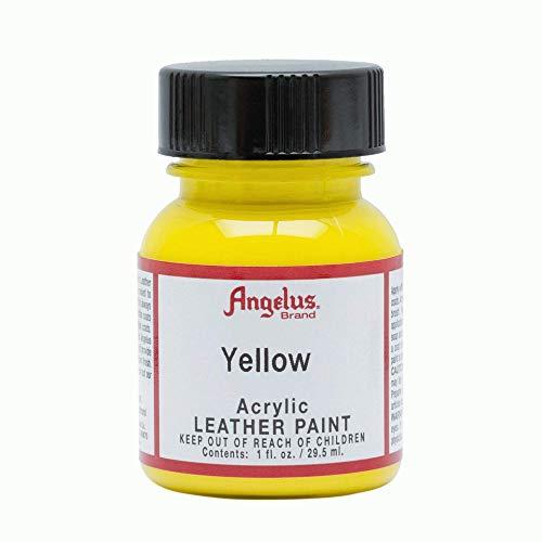 Angelus® Glitterlites Malfarben, - 075 Gelb - Größe: 28g