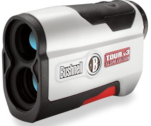 Bushnell Tour V3 Slope Edition Golf Laser Rangefinder, White