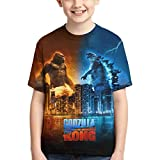 Dinosaur Vs King Ko-ng Youth Boys Girls 3D Printed Short Sleeves T Shirt Fashion Youth Tee Shirts