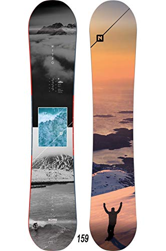 Nitro Snowboards Herren Team Exposure Wide '20 All Mountain Directional Twin Freestyle Board für große Füße Snowboard, mehrfarbig, 159 cm