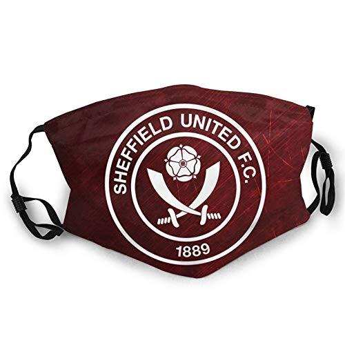 Sheffield United FC - Pañuelo para la cara, para hombres y mujeres, orejeras, antipolvo, para reemplazar la boca, pintura