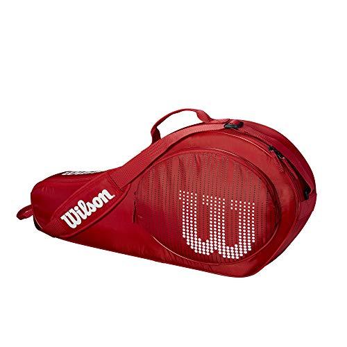 Wilson Bolsa para raquetas de tenis para niños, Hasta 3 raquetas junior,...