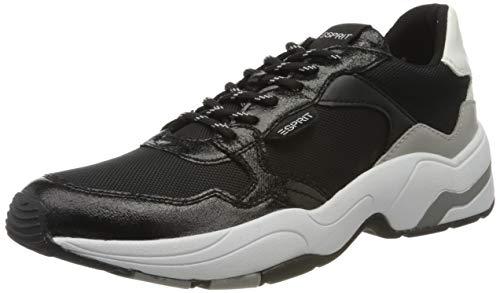 ESPRIT Damen Jana Met LU Sneaker, Schwarz (Black 001), 41 EU
