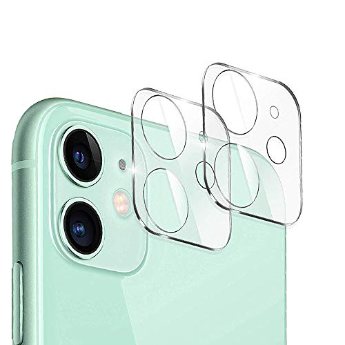 Designed for iPhone 11 Camera Lens Protector,for iPhone 12 Mini Lens Cover,JanCalm NO Glare HD Clear Ultra-Thin Anti-Scratch Tempered Glass for iPhone 12 Mini/iPhone 11 Lens Protector (2 Pack)