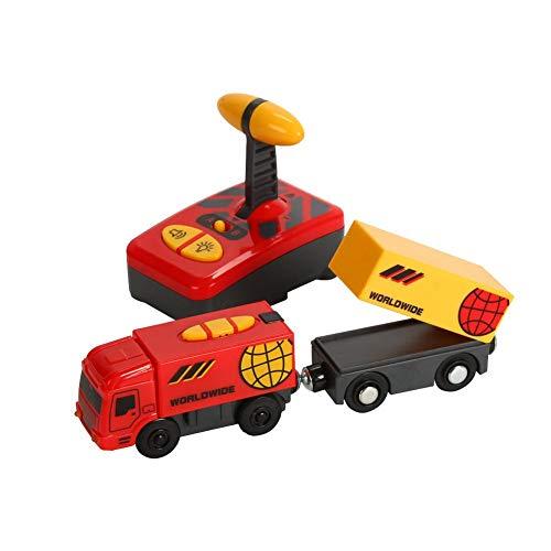 Mando a distancia para tren eléctrico, tren de juguete, ciudad, tren de vapor, Locomotora, juguete para Thomas pista de madera, regalo de cumpleaños para niños, edad 2-5