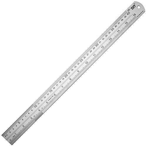Ruler Metal Straight Edge Ruler Stainless Steel Ruler 16 Inch Ruler Set Rulers Bulk 1 Pack