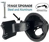 Permanent Repair for Ford F150 Fuel Door Repair Kit (2009-2014) Hinge Kit - Loose Gas Cap Fix - 4L3Z-9927936-BA 4L3Z9927936BA 924801 9l3z9927936b 9L3Z-9927936-B Filler Neck Housing Cover