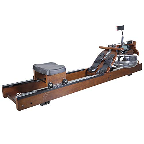 FITPHER Water Resistance Rowing Machine, Indoor Dual-Track Fitness Rowers Equipment for Healthy (Woody)