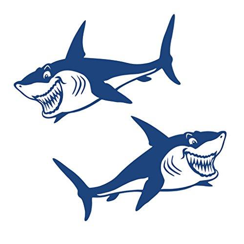 Homyl Bootsaufkleber Schlauchboot Haifisch Aufkleber Sticker Autokleber 18,1 x 10 cm