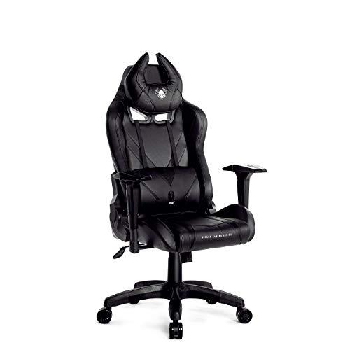 Diablo X-Hunt Gaming Stuhl für Kinder Bürostuhl Ergonomisches Design Kippfunktion 3D Armlehnen (Schwarz, S)