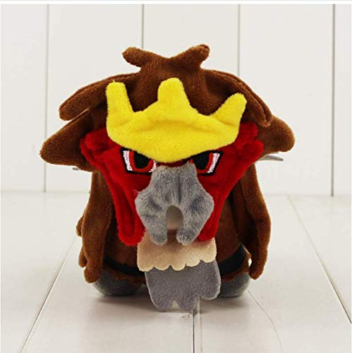 N/T Cartoon Animal Plush Toy, Suicune Entei Raikou Plush Toy The Second Generation Gold and Silver Soft Stuffed Animal Dolls 15Cm