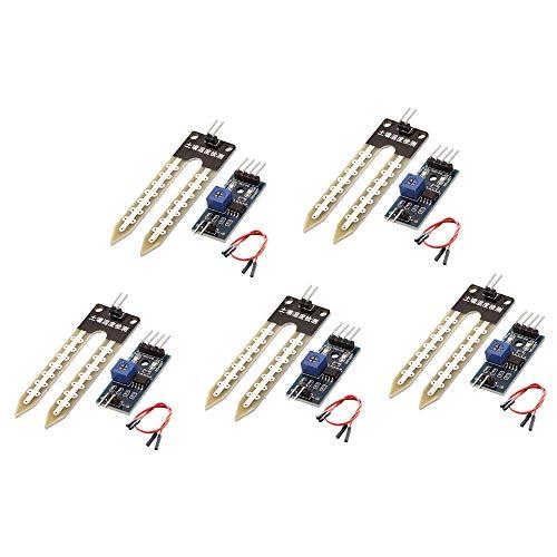 WINGONEER 5pcs suolo igrometro Umidità rilevamento acqua Sensor Module YL-69 sensore e HC-38 Module per Arduino