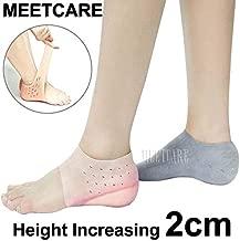 HealthyNeeds MEETCARE Bionics Increase Height 2cm Silicone Gel In Socks Protect Heel Lift