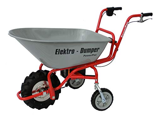 Powerpac ED120 Electric Wheelbarrow/Dumper/Battery-Powered Motorised Wheelbarrow