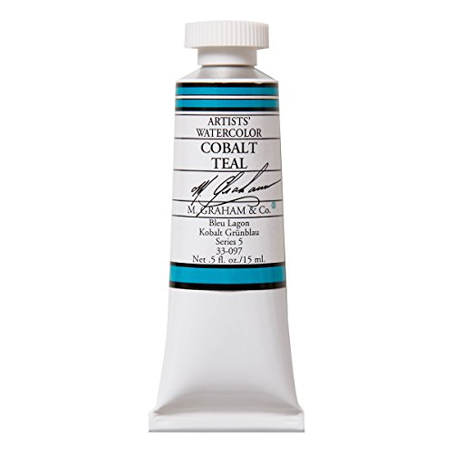 M. Graham 1/2-Ounce Tube Watercolor Paint, Cobalt Teal