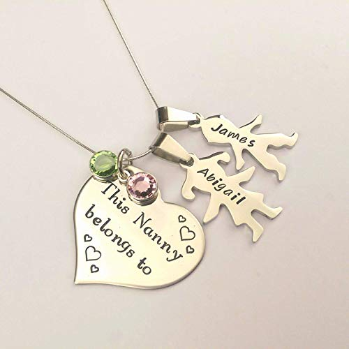 Personalised This Nanny Belongs to necklace, Gift for Nanny, Grandma, Nan, Granny, Birthday Gift Present