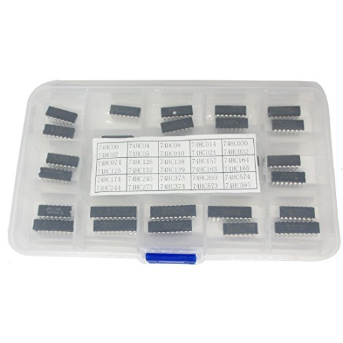30 Types 74HC Series Logic IC Assortment Kit, High-Speed Si-Gate CMOS IC In Assortment Box