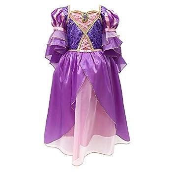 Disney Rapunzel Costume for Girls – Tangled Size 5/6 Purple