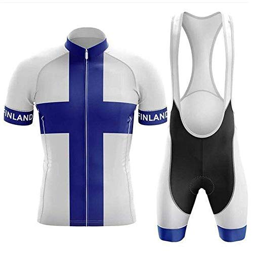 Factory8 - Country Jerseys - Love Your Country! Cycling Jerseys & Sets Collection - Team Finland 'Finn Pride' Men's Cycling Jersey & Bib Short Set Collection - Jersey & Short Set - L