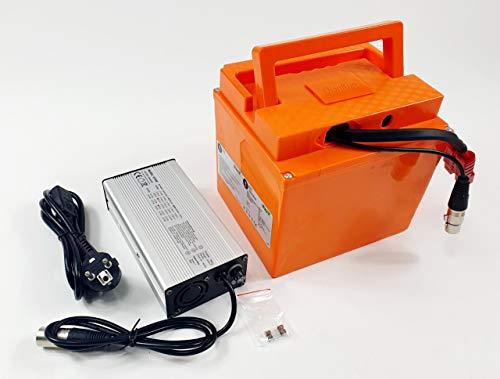 TZIPower Batería de 60 V 20 Ah para bicicleta eléctrica de PVC, batería de iones de litio para marco de bicicleta, scooter, barco