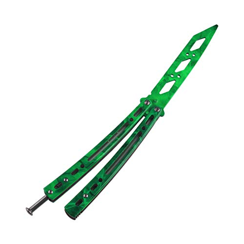 Ranstac Faltbar Ausrüstung CS Übungs Werkzeug Rostfreier Stahl mit Löchern CS/HDD29 (Grün)
