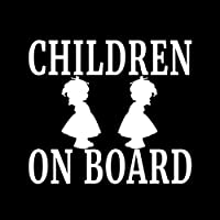 ARGYJAE 12.7cmの* 11.3CM子供ON BOARDガールビニールデカール家族赤ちゃん子供の安全車のトラックブラック/シルバーC10-00124 (Color Name : Silver)