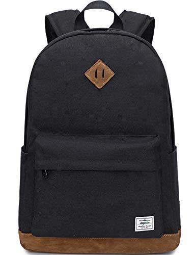 Mygreen Rucksack für Mädchen Kinder Schultasche Kinder Büchertasche Frauen Casual Daypack, schwarz (Schwarz) - MG19172BK