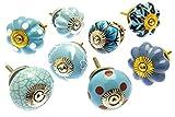 Mango Tree™ - set di pomelli misti in ceramica, per credenza, confezione da 8 pezzi, modello MG-706.