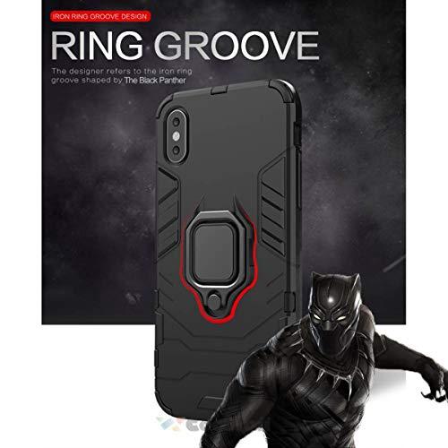 Cocomii Black Panther Ring Xiaomi Mi F1/Pocophone F1/Poco F1 Case, Slim Thin Matte Vertical & Horizontal Kickstand Ring Grip Protection Bumper Cover for Xiaomi Mi F1/Pocophone F1/Poco F1 (Jet Black)