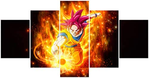 FUNHUA Anime Dragon Ball Z Poster Canvas Prints Japanese Anime Posters Wall Art Unframed product image