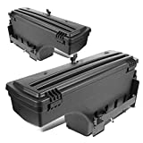 Left+Right Side Truck Bed Wheel Well Storage Case Tool Box w/Lock Compatible with Dodge Ram 1500 2500 3500 02-18