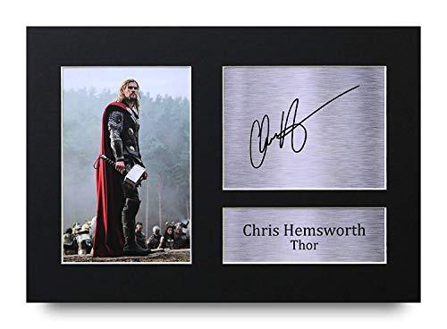 HWC Trading Chris Hemsworth A4 Ungerahmt Signiert Gedruckt Autogramme Bild Druck-Fotoanzeige Geschenk Für Thor The Avengers Filmfans