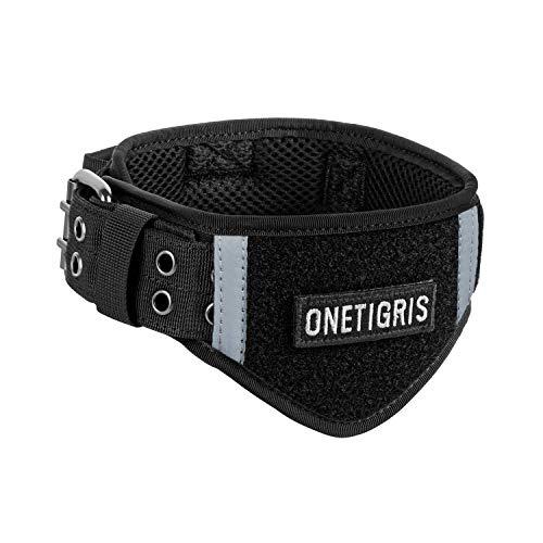 OneTigris Verstellbare Hundehalsband Weiches Hundehalsband für Hunde |MEHRWEG Verpackung (XL, Schwarz)