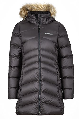 Marmot Damen Wm's Montreal Coat Leichte Daunenjacke, 700 Fill-Power, warmer Parka, Wintermantel, wasserabweisend, winddicht, Black, XL