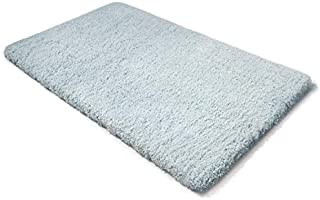 MICRODRY Thick and Plush SoftTip Memory Foam Bath Mat with GripTex Skid-Resistant Base, 24x36 (Aqua)
