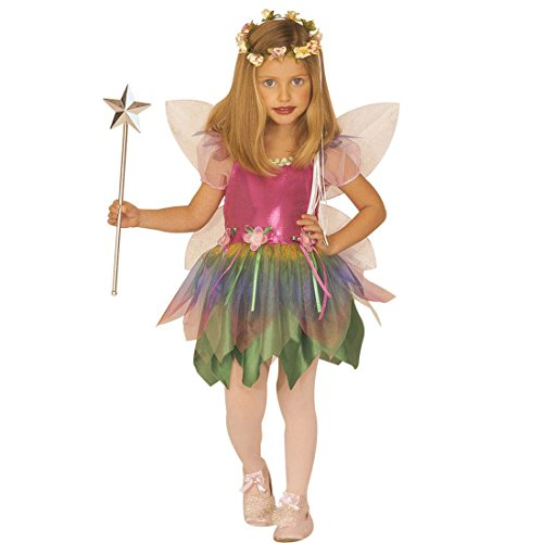 NET TOYS Kleine Fee Kostüm Kinder Feenkostüm S 128 cm Tinkerbell Kinderkostüm Schmetterlingskostüm Mädchen Elfenkostüm Kind Märchenkostüm Elfe