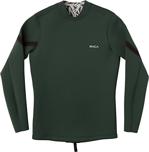 RVCA Herren Chevron Back ZIPWETSUIT Jacket Hemd, Dark Olive, Klein